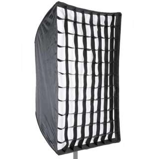 Photo Studio 60 x 90cm Rectangle Umbrella Type Speedlite Softbox with Grid for Portraits Product Photography and Video Shooting