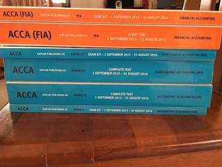 ACCA text book & exam kit