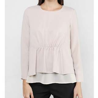 FV BASICS Gathered Top in Nude