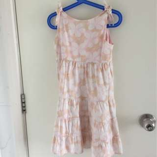 Pink Floral Dress by Gap 100% Cotton