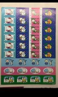 Sanrio 1993年 小禮物貼紙 (Pekkle Cheery Chums Pc狗 keroppi hello kitty 大口仔 we are dinosaurs)