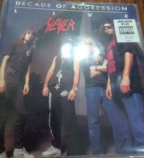 Limited vg+ slayer decade of aggression record vinyl limited
