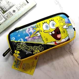 🌟 包郵 ! 購自外國 全新 Spongebob 海綿寶寶 特大 兩格 筆袋