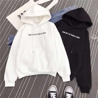 Black I'm with the band Hoodie