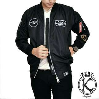 Jaket bomber kent retro black new