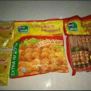 Paket Nugget +sosis+minyak
