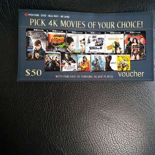Vouchers for 4K Blu Ray Disc!!! Letting go at low Price!!