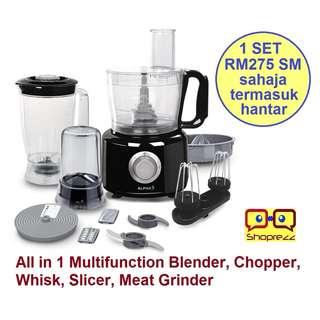 All in 1 Blender, Chopper, Whisk, Slicer, Meat Grinder