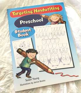 Charity Sale! Targeting Handwriting Preschool Student Book