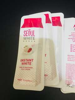 Seoul white instant white cream 3ml trial pack