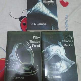 Fifty shades of GREY,DARKER,FREED