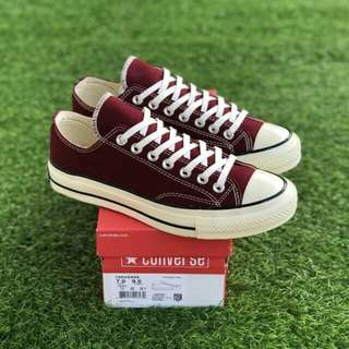 70's LOW MAROON OFF WHITE  PREMIUM BNIB FULL TAG BARCODE MADE IN VIETNAM 40/41/42/43/44