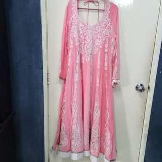 Sweet Punjabi Suit( low neck)