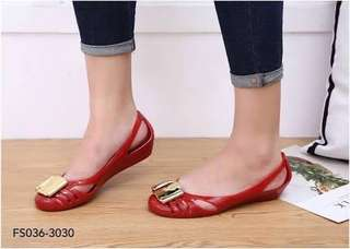 "Warna"" Ferragamo jelly shoes"