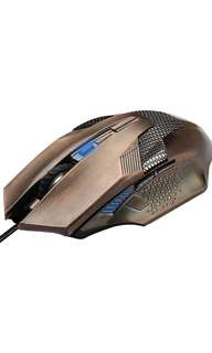 Tecknet Professional Ergonomic Optical Wired Computer Gaming Mouse, 2000DPI, 3 DPI Adjustment Levels, 6 Buttons - Bronze