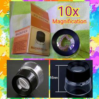 🌟 Magnifier / Magnifying Glass / Lens  ✔Magnification: 10x  ✔Can be used for: ✅Reading  ✅Jewellery  ✅Education, Industrial, House & Offices