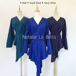 Navy blue kimono Wrap Top