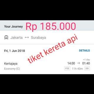 Tiket kereta api jkt - Surabaya