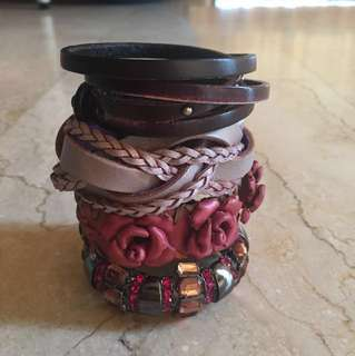 Bracelets (Leather & Bling)