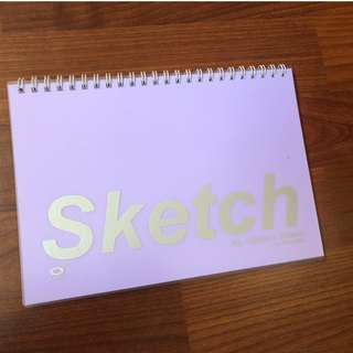 azone a5 purple cover sketch book