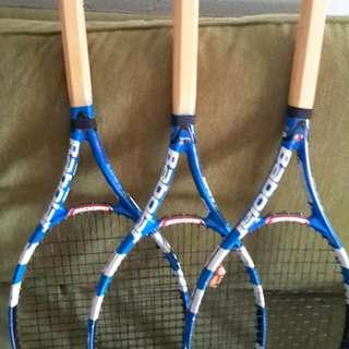(3) Babolat Pure Drive GT tennis racquets L2 grip size