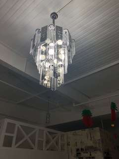 1 Chandelier and 6 droplights