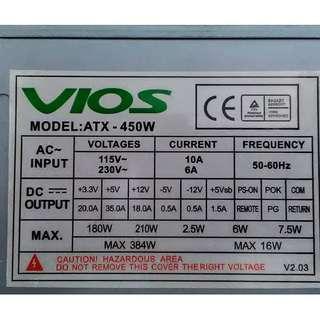 VIOS ATX-450W ATX Power Supply