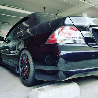 Supersprint exhaust for lancer glx cs3