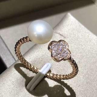 Natural freshwater pearl Rings