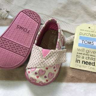 Authentic TOMS baby shoes