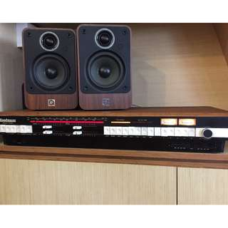 Goodmans Module Ninety FM radio Stereo Amplifier with Q acoustics Speakers