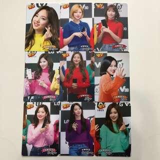 Twice Yes!專輯卡part3 白卡 T337-T345