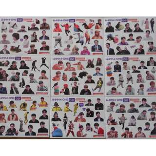 [READY STOCK] WANNA ONE ZERO BASE STICKERS