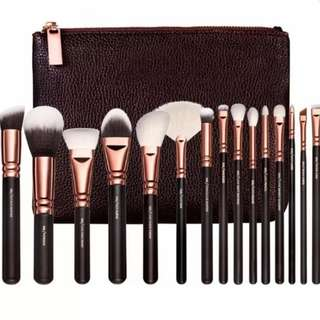 ZOEVA 15pcs Brush Set With Pouch