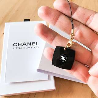Chanel Little Black Key Phone Keychain
