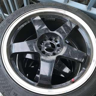 "18"" Original Rota IKR rims"