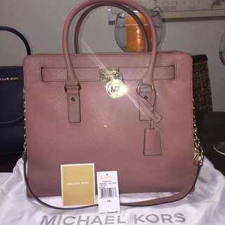 Authentic MK LARGE LEATHER TOTE