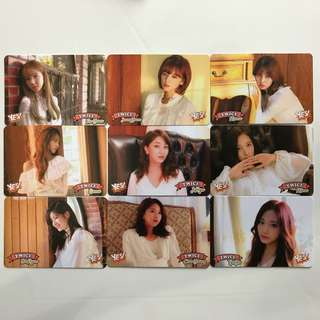 Twice Yes! Card 專輯卡part3 白卡 T374-T381