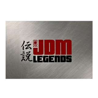 JDM Legends Decal 10cm x 5cm (White/Black)