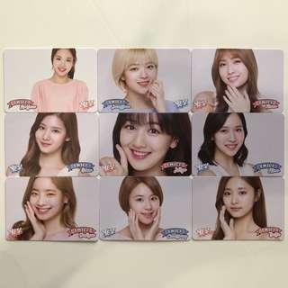 Twice Yes!專輯卡part3 白卡 T301-T309