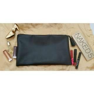 Faux Leather Tassel Clutch Bag