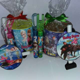 Customised Frozen Theme Goodie Packs