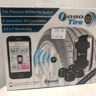 Fobo Tire Wireless Tire Pressure Monitoring System (Silver)