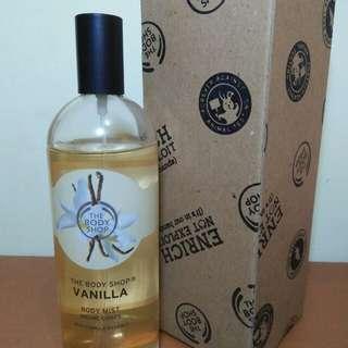 Parfum The Body Shop Vanilla Body Mist