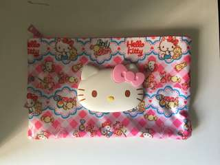 Customised Hello kitty 2 in 1 tissue pouch