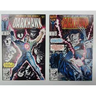 "Darkhawk #10-15 (1991)  "" Heart Of The Hawk"" Complete Set of 6 Books (Guest-starring VENOM!)"