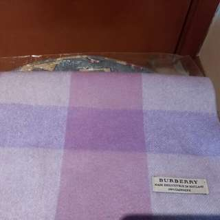 Burberry purple scarf