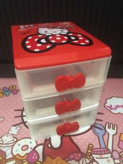 Hello Kitty 3-Tiers Accessories Drawers