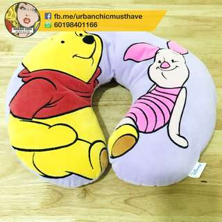 DISNEY WINNIE THE POOH SOFT NECK PILLOW PURPLE CUTE CHILDREN ADULT COLLECTIBLES