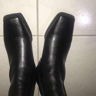 方頭靴全新!買錯尺寸隨便售😭